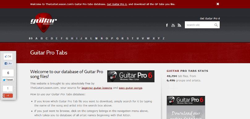 Guitar Pro tabs