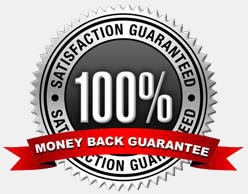 Your satisfaction is 100% guaranteed, or you get your money back, no questions asked!