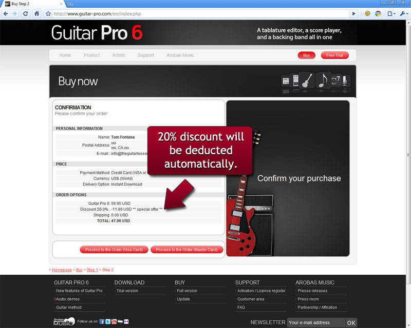Guitar pro discount step 2.