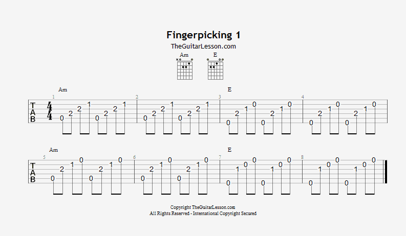 Fingerpicking exercise 1