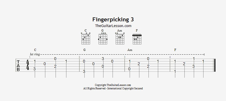 Fingerpicking exercise 3