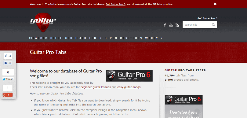 Guitar Pro tabs