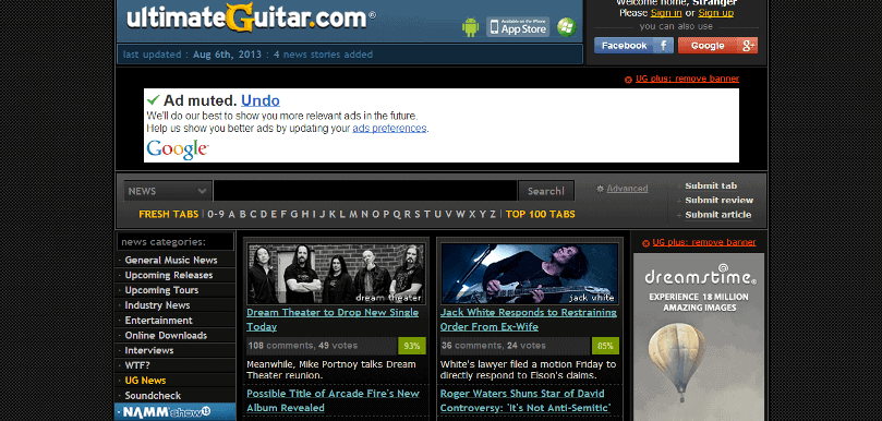 UltimateGuitar News