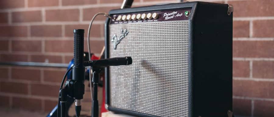 Enregistrez-électrique guitare micro positions