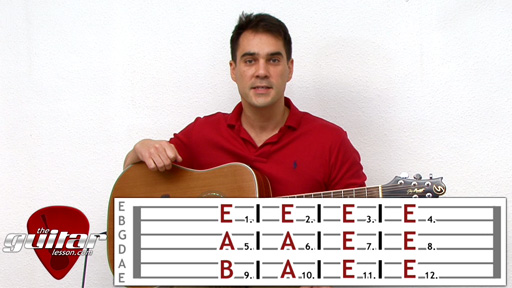 12 Bar Blues Guitar Lesson - Key of E